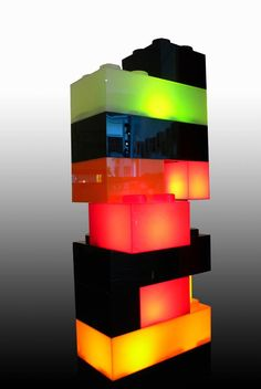 Lamp made of #Qbiq bricks