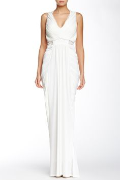 Sleeveless Draped Evening Dress by Gracia on @nordstrom_rack