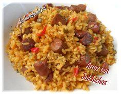 Fácil y sabroso arroz con salchichas de Los Inventos de Isa.