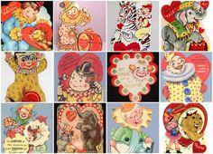 cartes_st_valentin_cirque_valentine_cards_circus_theme_2  #circus #vintagecircus