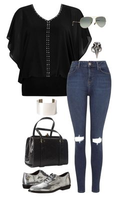 """""""Untitled #3128"""" by meandelstyle ❤ liked on Polyvore featuring Wallis, Topshop, Forever 21, Pamela Love, Diesel and Ray-Ban"""
