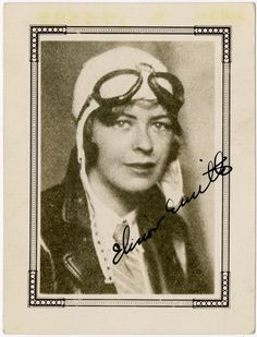 Elinor Smith, circa 1930. Smith soloed at 15, earned her license at 16, and holds the honor of having flown under all four bridges (1920s-era) in New York City. She teamed up with Bobbi Trout in November of 1929 to set a new women's endurance record of 42 hours and to become the first women aviators to accomplish aerial refueling. NASM-2000-10682