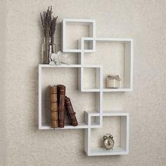 Danya B Intersecting Cube Shelves - White