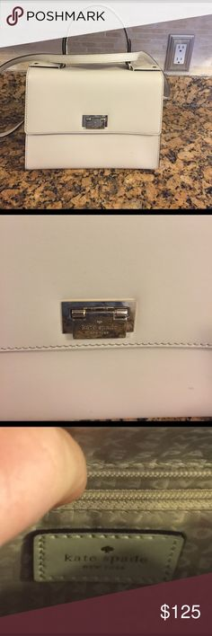 % Authentic Kate Spade crossbody bag This is a cute and classy bag for a night out on the town or just on the go. Lightweight like new condition has one tiny scratch barely can see it toward the bottom. kate spade Bags Crossbody Bags