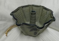 Vintage Blue Mold Hanger Pottery 1986 Beautiful Pottery California Artisan Clay