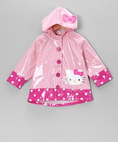 Pink #HelloKitty City Raincoat on #zulily