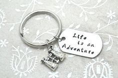 Adventure Keychain Hiking Keychain Camping by BeautyInBaubles