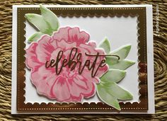 Celebrate Greeting Card, Handmade Celebrate Card, Mothers Day Card, Graduation Card, Happy Occasion Card, Floral Handmade Card, Altenew by CardsAndClips on Etsy