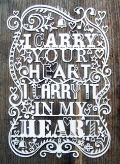 I carry your heart x