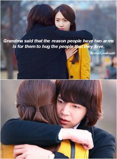 "Taken from Love Rain, Korea Series 2012  mood: Love/crave/sad  ""Grandma said that the reason people have two arms is for then to hug people that they love"""