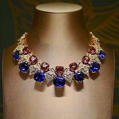 Multi Gemstone and Diamond Necklace