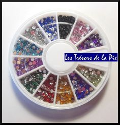 STRASS CRISTAL 3D ONGLES - Nail art - RONDS - 1,5mm - Multicolore