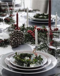 @atmycasa Table Settings, Table Decorations, Instagram Posts, Christmas, Home Decor, Xmas, Decoration Home, Room Decor, Place Settings