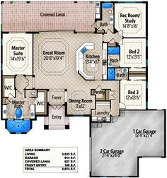 Fabulous Master Bathroom - 86001BW | 1st Floor Master Suite, Butler Walk-in Pantry, CAD Available, Den-Office-Library-Study, Florida, Media-Game-Home Theater, Mediterranean, PDF, Split Bedrooms | Architectural Designs