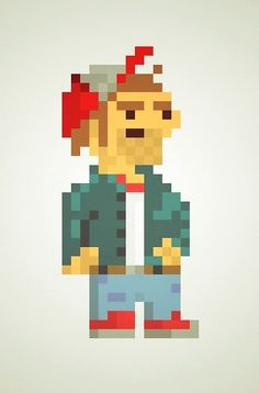 Trucker Guy 8 Bit Art, Guys, Fictional Characters, Sons, Fantasy Characters, Boys