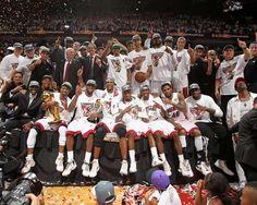 2012 NBA Champion Miami Heat - http://www.fansedge.com/Team-Celebration-Miami-Heat-NBA-Finals-Game-5-6212012-_-1176956553_PD.html?social=pinterest_nbafinals_teampic