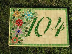 mosaic house number... I wonder if I can do a similar thing for my house?
