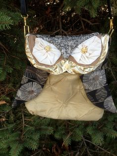 Owl Purse Hobo Bag Shoulder Bag made with flowered by lvcreativity, $45.00