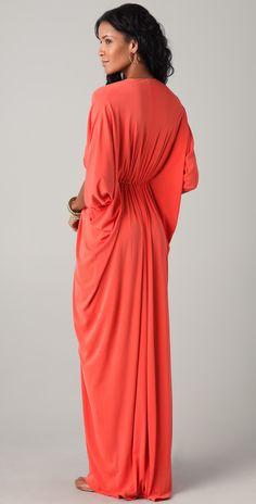 ISSA Long Ruched Caftan Dress | SHOPBOP