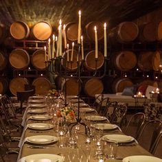 Armida Winery || Want to dine in the caves? Come to Armida Winery for an intimate dining experience! #milestoneeventsgroup