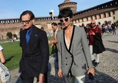 Vogue's Hamish Bowles and Eva Geraldine Fontanelli