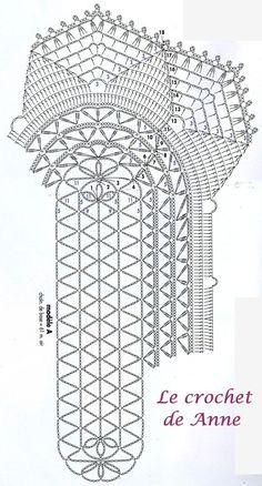 grille napperon ovale et ses éventails
