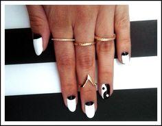 Ying Yang Nails #nails #nailart