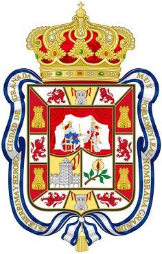 Coat of Arms of Granada - Escudo de Granada (España) - Wikipedia, la enciclopedia libre