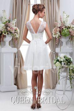 Simple White Short Wedding Dress Vestido De Noiva Curto Renda Bride Dresses Wedding Gowns Vestido De Noiva Curto C20