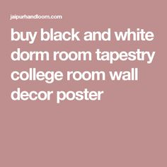 buy black and white dorm room tapestry college room wall decor poster