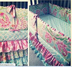 3 Tier RUFFLED CRIB SKIRT You Choose Fabric by fingersandtoes, $180.00
