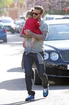 David Beckham Takes Harper Out