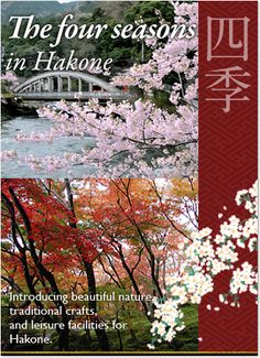 The four seasons in Hakone : Introducing beautiful nature, traditional crafts, and leisure facilities for Hakone.