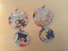 Strip cartoon earrings