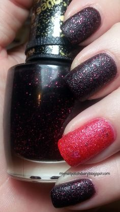OPI Stay The Night with OPI Can't Let Go. Liquid Sand Finish