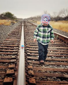 {Children's Photography} Train track and Thomas the Train...Two Years Old!