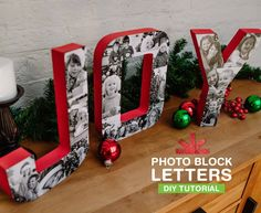 These photo block letters are a surefire conversation starter at your holiday party. 4x6 Photos