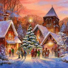 Christmas Scenery, Christmas Mood, Noel Christmas, Christmas Images, A Christmas Story, Christmas Greetings, Christmas Themes, Vintage Christmas, Christmas Decorations