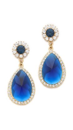 Shay Accessories Teardrop Crystal Border Earrings something blue for wedding