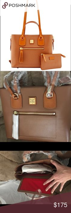 Nwt dooney and Bourke Morgan purse Brand new with paperwork dooney and Bourke  Morgan purse. Has a small wristlet that did perfectly inside purse Dooney & Bourke Bags Shoulder Bags