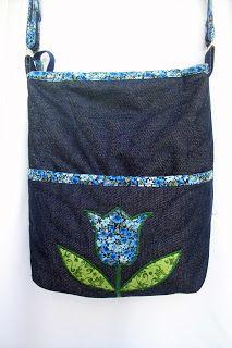 Viselde Műhely: Kék tulipános válltáska Diaper Bag, Bags, Totes, Handbags, Diaper Bags, Mothers Bag, Bag, Hand Bags