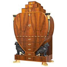 Gaisbauer Biedermeier Secretary Cabinet | From a unique collection of antique and modern secretaires at https://www.1stdibs.com/furniture/storage-case-pieces/secretaires/