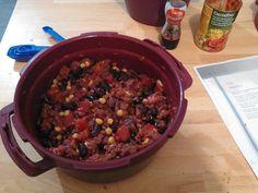 Pour ce soir un Chili con carne et son riz en 30min avec le Micro minute