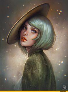 арт девушка,красивые картинки,Serafleur,Abigail Diaz,artist