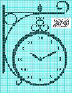 Decorate your house with one of these beautiful cross stitch clocks or give it as a present . Cross Stitch Kitchen, Cross Stitch Love, Cross Stitch Pictures, Cross Stitching, Cross Stitch Embroidery, Embroidery Patterns, Modern Cross Stitch Patterns, Cross Stitch Designs, Filet Crochet