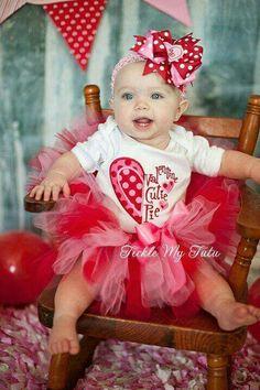 2cb3a7328 Girls Valentines Outfit-Valentine Cutie Pie Tutu Outfit-My First  Valentine's Day Outfit-Valentine's Day Birthday Outfit *Bow NOT Included*
