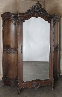 Antique Grand Louis XV Walnut Armoire