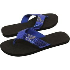 Feeling blue because it's not quite October yet? These St. Louis Blues sandals will help. #IsItOctoberYet?