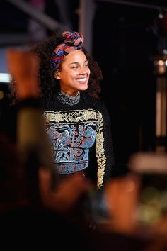 Alicia Keys performs in Times Square on October 9, 2016 in New York City