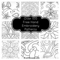 Over 100 Free Hand Embroidery Patterns